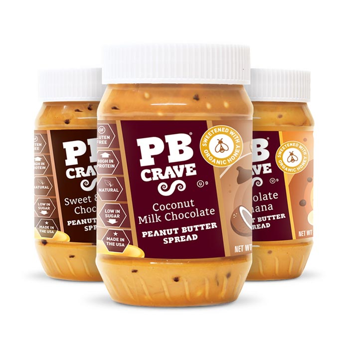 PB Crave - Variety Pack (Coconut Milk Chocolate, Chocolate Banana, Sweet and Dark Chocolate) | Bulu Box Superior Supplements, Vitamins, and Healthy Snacks