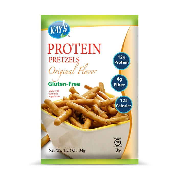 Kay's Naturals Gluten-Free Protein Pretzel Sticks Original Flavor | Bulu Box - sample superior vitamins and supplements