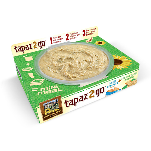 Mediterranean Snacks Tapaz 2 Go Roasted Garlic Hummus | Bulu Box - sample superior vitamins and supplements