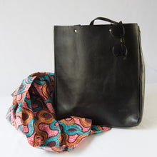 Black Akara Tote Handbag with Dustbag