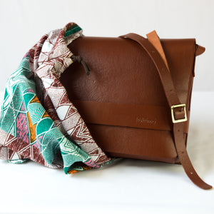 Brown Leather Cross Body Bag with dustbag