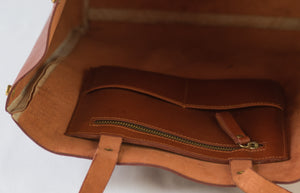 Brown Akara Tote Handbag - Inside