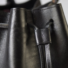Black Dodo bucket bag- close-up