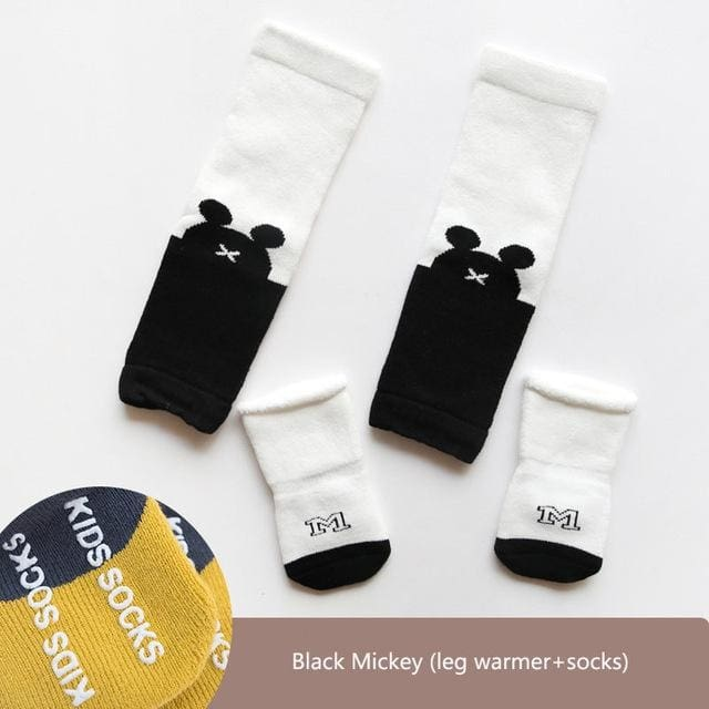 2Pcs Infant Socks For Baby Leg Warmer Leggings Winter - White Duck / 6M - Boys