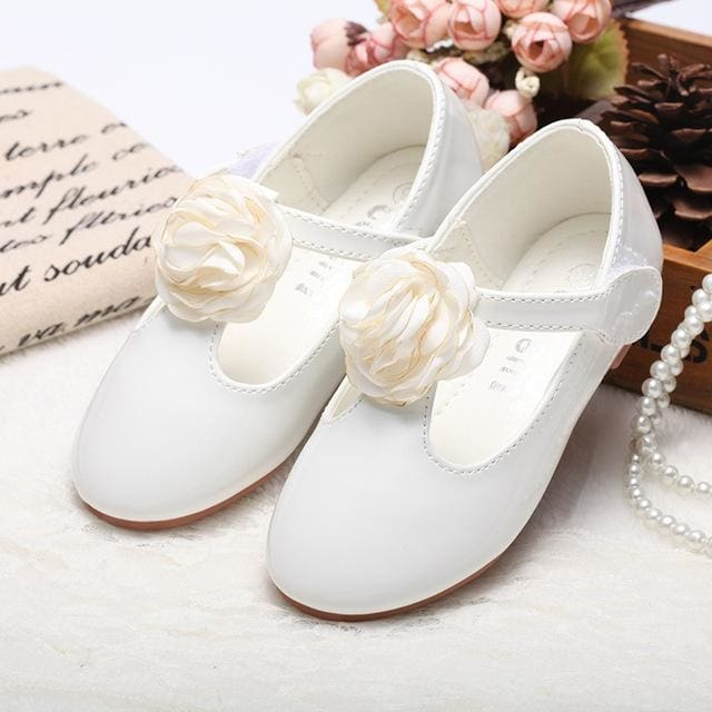3 Colors Korea Leather Girls Shoes - Baby Girls