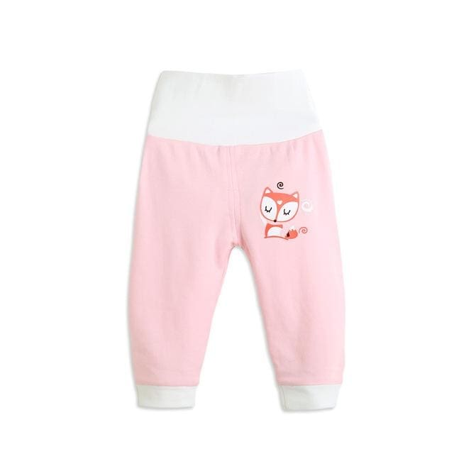 Animal Casual High Elastic Waist Pants Baby Girls - Baby Girls