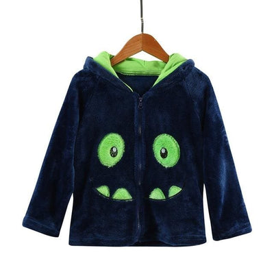 Animal Hooded Coat - Black / 2Y - Girls