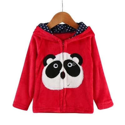 Animal Hooded Coat - Red / 2Y - Girls