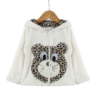 Animal Hooded Coat - White / 2Y - Girls