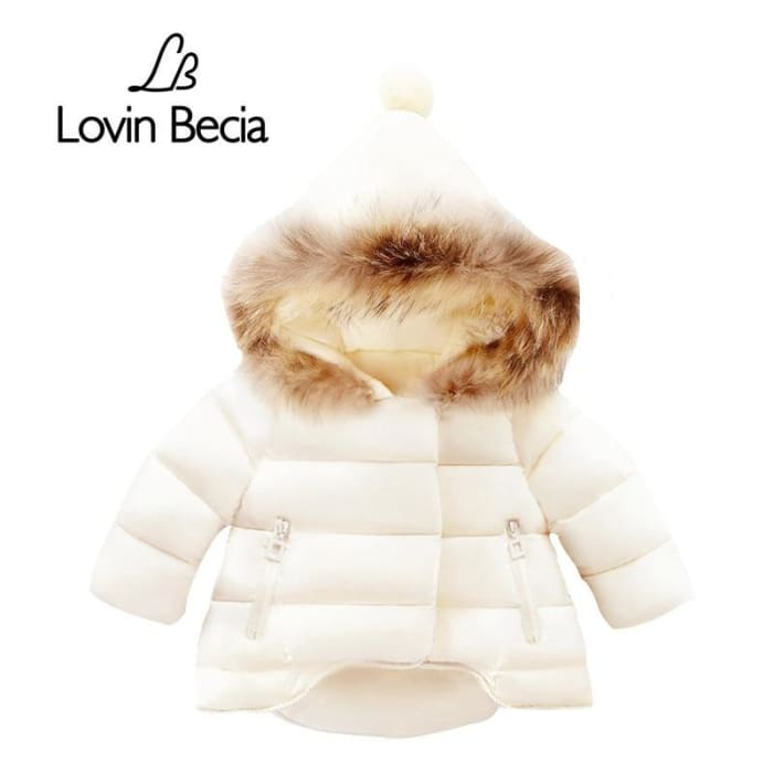 a5863221b Autumn Baby Girls Jackets Winter Kids Hairball Hooded Jacket