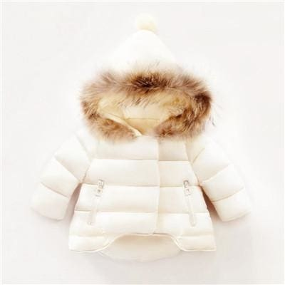 c70fef893 Autumn Baby Girls Jackets Winter Kids Hairball Hooded Jacket