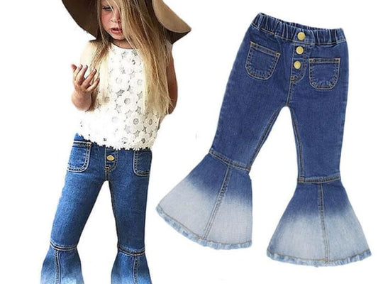 Autumn Ins Girls Jeans Popular Horns - Pre-Order