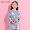 Autumn Style Petal Sleeve Flowers Print Design - Girls