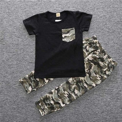 Baby Boy Camouflage Outfit Set - As Picture 1 / 3Y - Boys