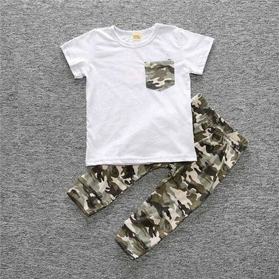 Baby Boy Camouflage Outfit Set - As Picture / 3Y - Boys
