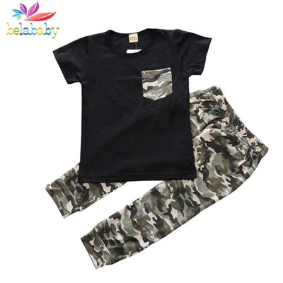 Baby Boy Camouflage Outfit Set - Boys