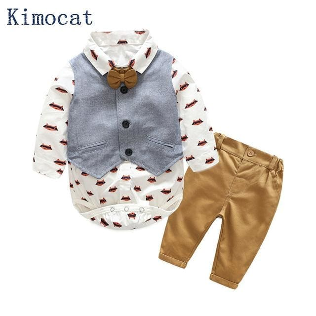 Baby Boy Suit Vest With T-Shirt And Pant - Baby Boys