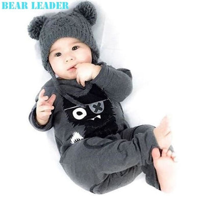 Baby Boys Clothes Long Sleeve Jumpsuits Deer Printing - Baby Boys