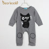 Baby Boys Clothes Long Sleeve Jumpsuits Deer Printing - Dark Grey / 1Y 8M - Baby Boys