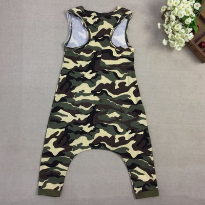 Baby Cute Pattern Harem Rompers - Baby Boys