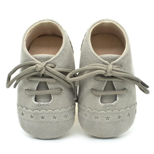 Baby Girl-Boy Lace Up Soft Leather Shoes - Baby Boys