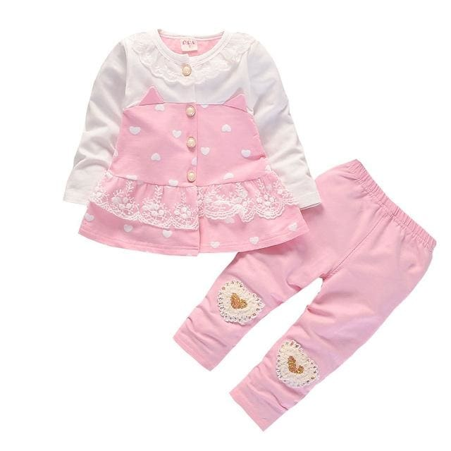 7710e160e Baby Girl Clothing Set Lace Cardigan