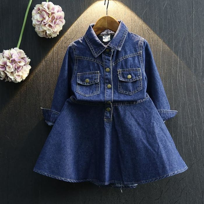 Baby Girl Denim Dress Casual Style - Girls