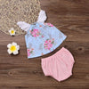 Baby Girl Floral 2Pcs Set - Baby Girls