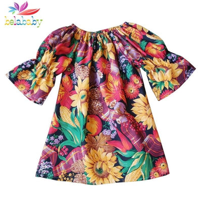 Baby Girl Floral Print Short Sleeves Dress - Girls