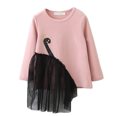 Baby Girl Long Sleeves Garment Dress - Pink / 3Y - Girls