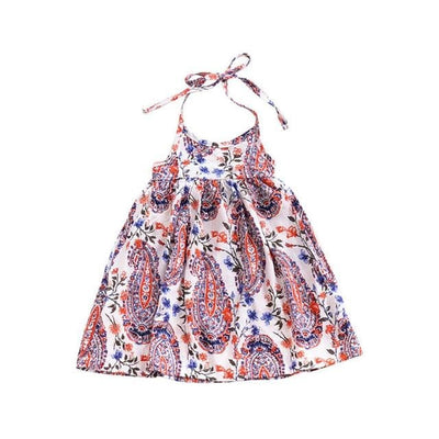 Baby Girl O-Neck Sleeveless Beach Dress - Multi / 3Y - Girls