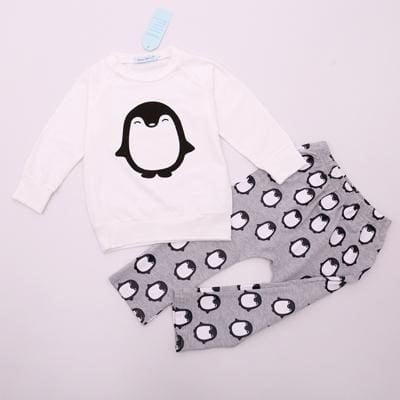 Baby Girls Autumn Long Sleeve + Pant Outfit - Girls