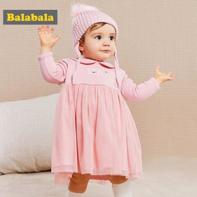Baby Girls Long Sleeve Princess Baby Dress - Baby Girls