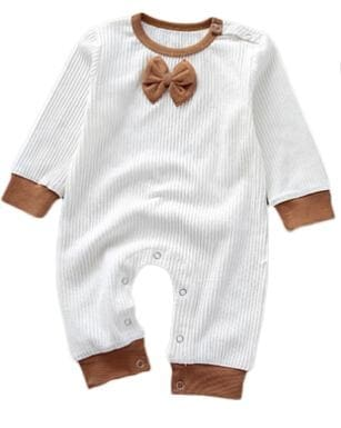 97057930493 Baby Girls Long Sleeve Pullover Tiny Cottons Rompers - Brown   6M - Baby  Boys