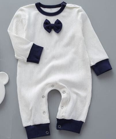 c13f52860f8 Baby Girls Long Sleeve Pullover Tiny Cottons Rompers - Navy Blue   6M - Baby  Boys