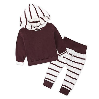 Baby Hood Tops + Long Pants Leggings Outfit - As Photos 2 / 1Y 6M - Baby Boys