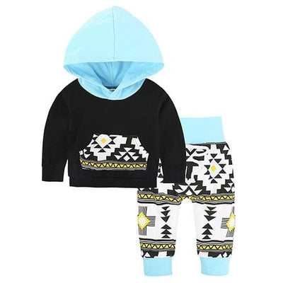 Baby Hood Tops + Long Pants Leggings Outfit - As Photos 3 / 1Y 6M - Baby Boys