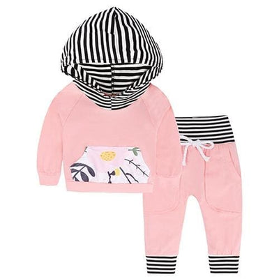 Baby Hood Tops + Long Pants Leggings Outfit - As Photos 7 / 1Y 6M - Baby Boys