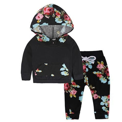 Baby Hood Tops + Long Pants Leggings Outfit - As Photos 8 / 1Y 6M - Baby Boys