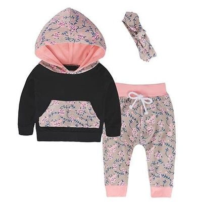 Baby Hood Tops + Long Pants Leggings Outfit - As Photos 9 / 1Y 6M - Baby Boys