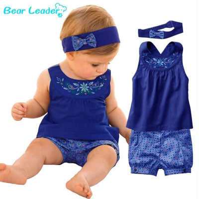 Baby Kerchief Sleeveless Dress - Baby Girls