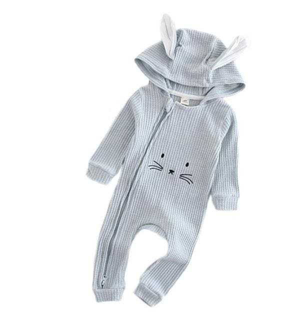 Baby Rabbit Ear Hooded Rompers - Baby Boys
