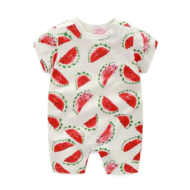 Baby Rompers Summer Watermelon Printed - Baby Girls