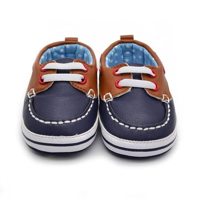 Baby Round Toe Pu Leather Shoes - Baby Boys