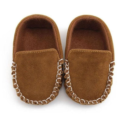 Baby Shoes Suede Leather - Brown / 13-18 Months - Baby Boys