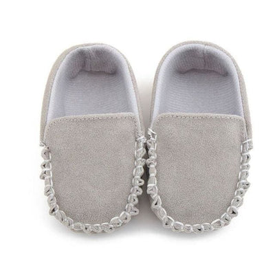 Baby Shoes Suede Leather - Gray / 13-18 Months - Baby Boys