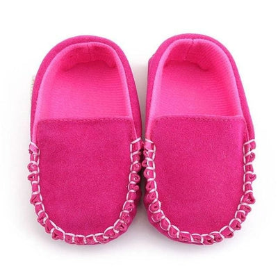 Baby Shoes Suede Leather - Pink / 13-18 Months - Baby Boys