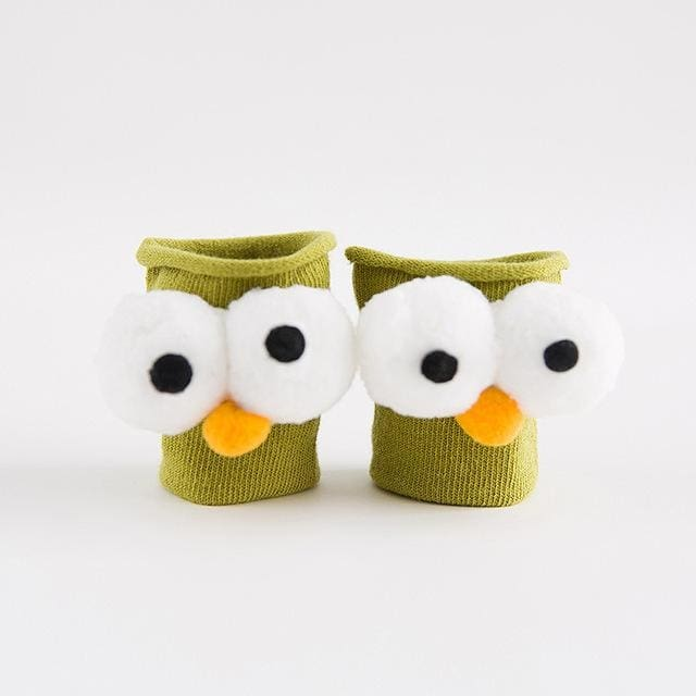 Baby Socks 3D Printed Cartoon Animal Eye - Girls