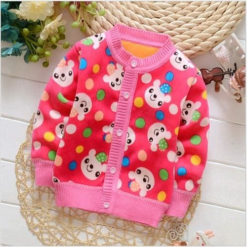 Baby Sweater Autumn Cartoon Sweater - Baby Girls