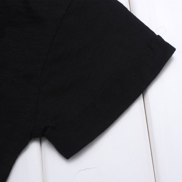 Baby T-Shirt Plain Black - Boys